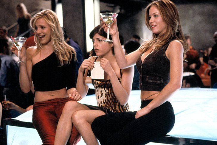 Pin for Later: The Most Memorable Drunk Moments in Movies The Sweetest Thing Christina (Cameron Diaz) and Courtney (Christina Applegate) have a long, wild night out, but at least Christina can remember the amazing guy she met.