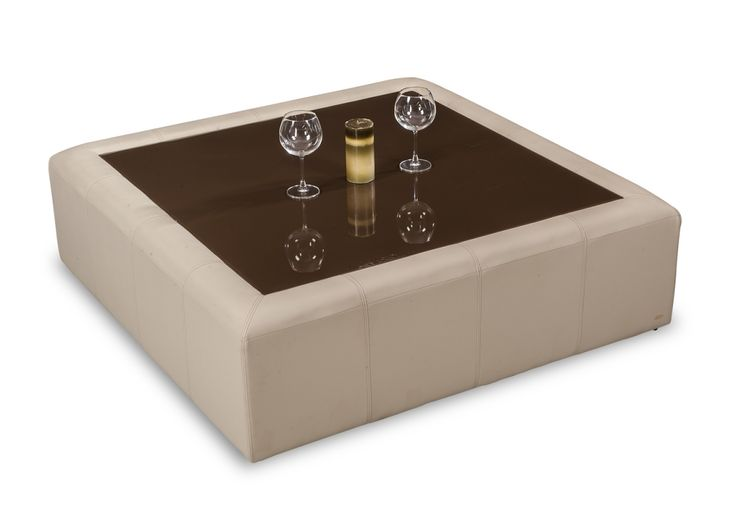 An Elegant Square, The Tucson A Nappa Aire Leather Coffee Table From Durian  Is A