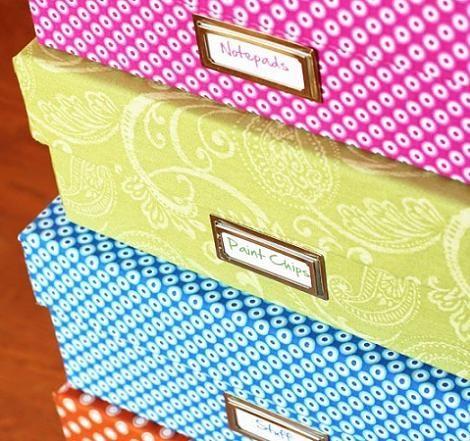 17 mejores ideas sobre cajas forradas con tela en - Cajas tela almacenaje ...
