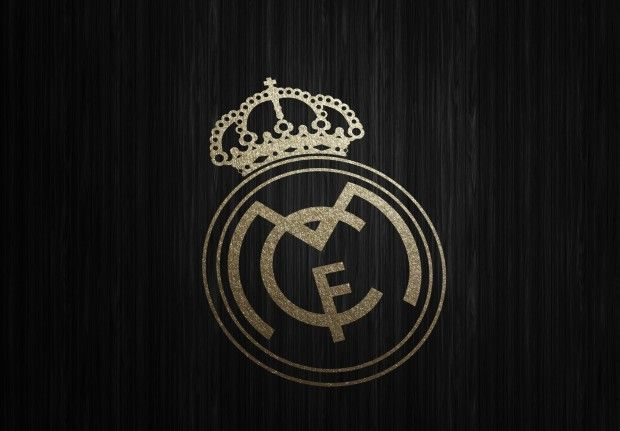 New Real Madrid Gold Logo Wallpaper HD.