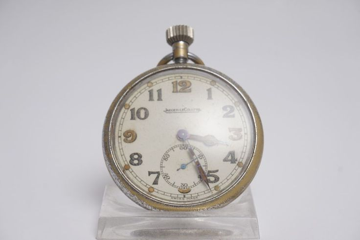 Jaeger Le Coultre GSTP Army Pocket Watch Open Faced-Working-Replaced Crown