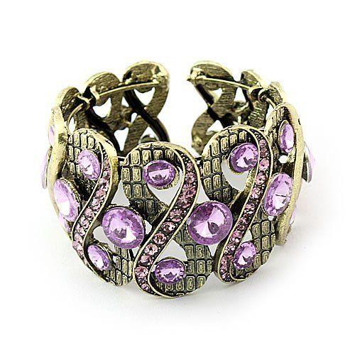 Purple Crystal Vintage Inspired Antique Brass Cuff Bangle Bracelet V.S. Bracelets. $14.99. Purple Crystal Vintage Inspired Antique Brass Cuff Bangle Bracelet