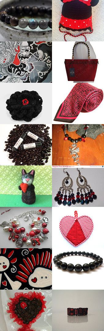 Love in Black and Red by Melissa Miller on Etsy--Pinned with TreasuryPin.com