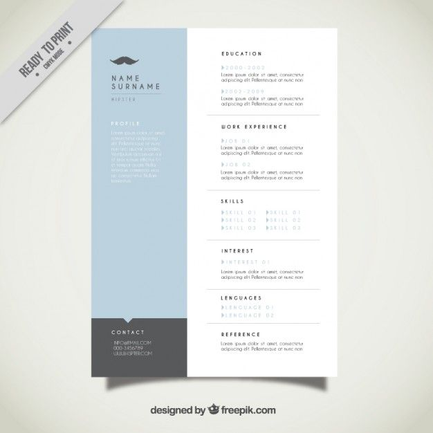 Best Cv Images On   Templates Free Resume Template