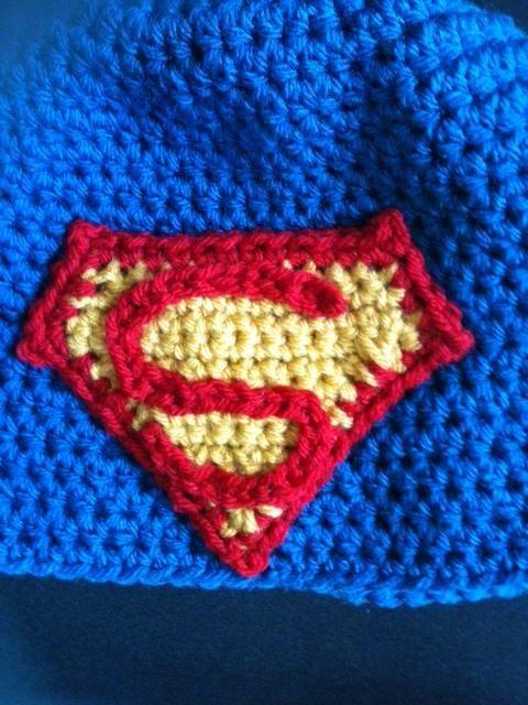 (4) Name: 'Crocheting : Superman applique
