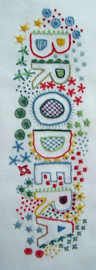 """Made by Helena Ericsson. """"Brodera"""" - embroidery in Swedish."""