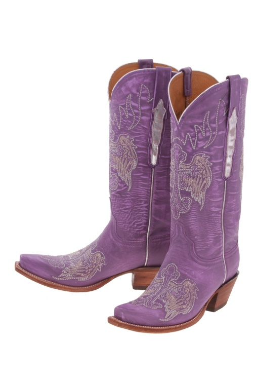 LUCCHESE CLASSICS Purple L4689 COWBOY BOOTS