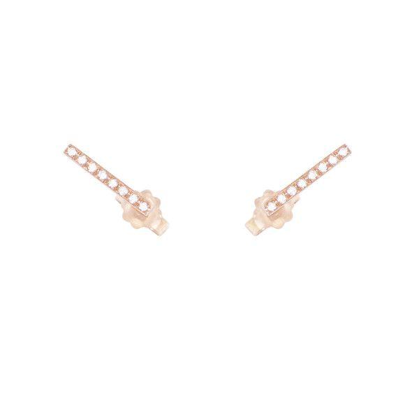 Bar Stud Earrings