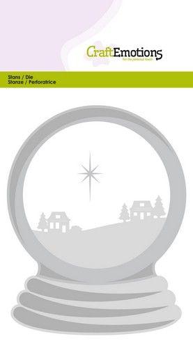 Wykrojnik CraftEmotions - Snow globe with houses