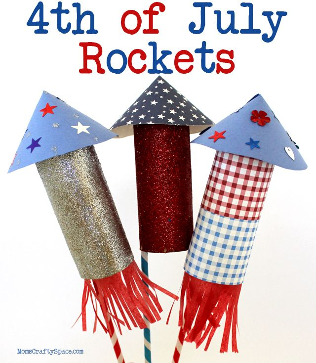 Kids Craft: 4th of July Rockets - Happiness is Homemade