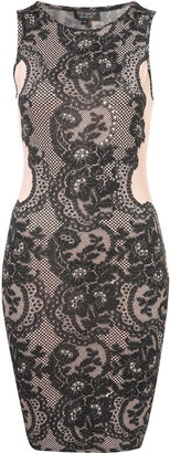 ShopStyle: Lace and Gem Bodycon Dress