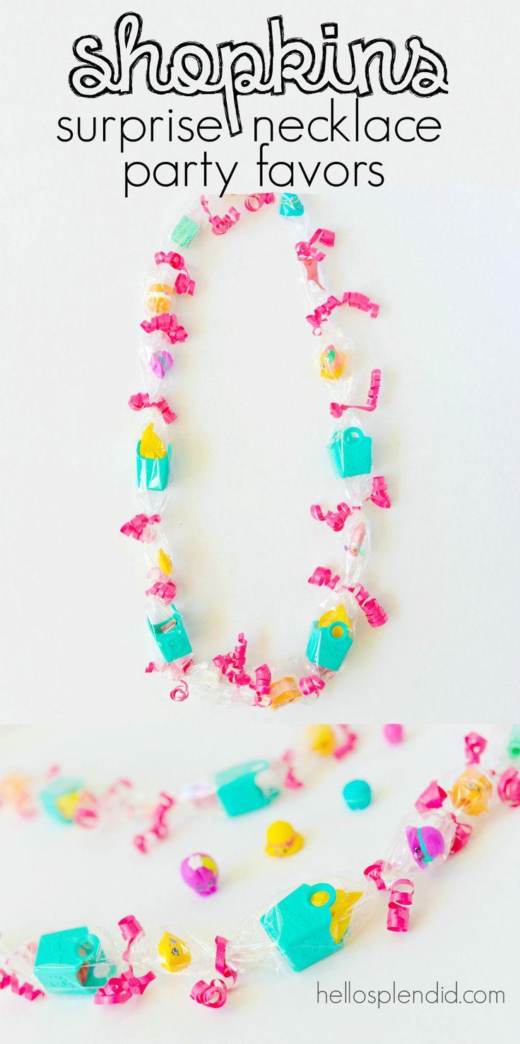 Shopkins party favors surprise necklace