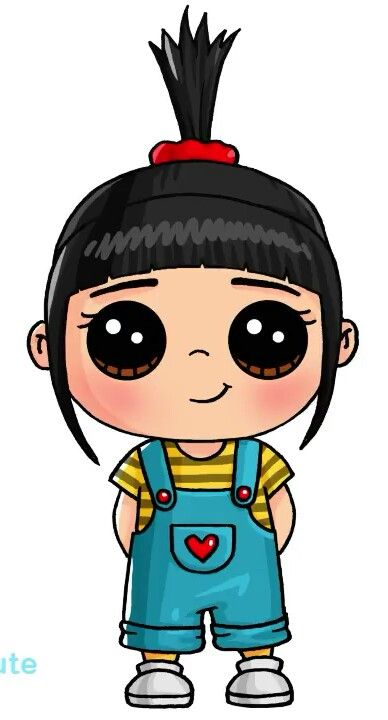 Chibi style Agnes from Despicable Me #1