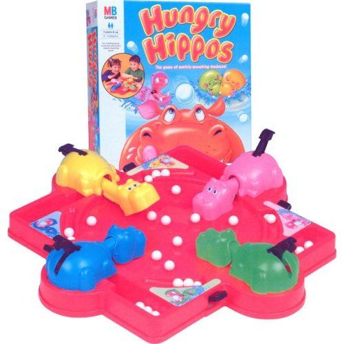 hungry hungry hippos | Here's another game from my youth, as well as something to play when ...