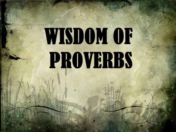 Proverbs Chapter 1 Bible Study