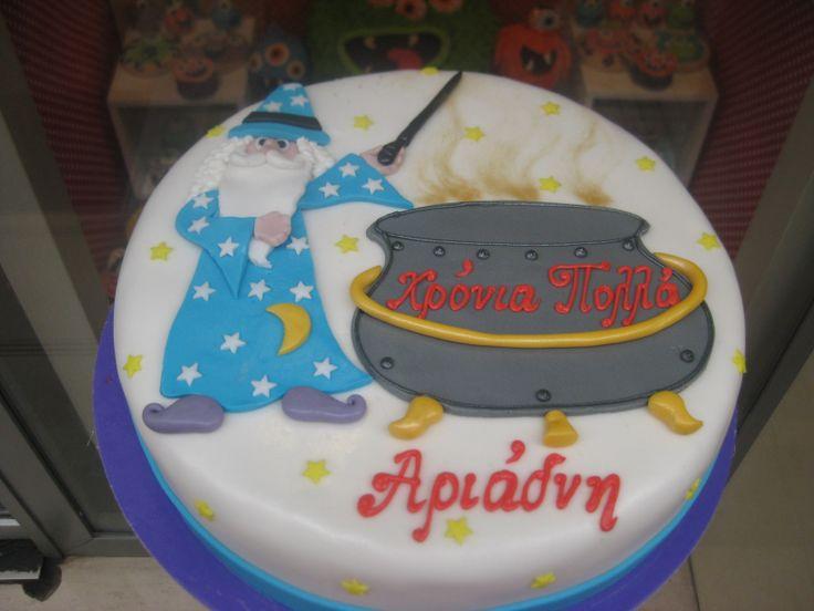 Τούρτες Γενεθλίων - Μάγος! #sugarela #TourtesGenethlion #magos #wizard #BirthdayCakes