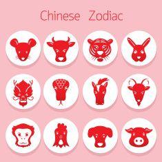Icons Set : Chinese Zodiac vector art illustration