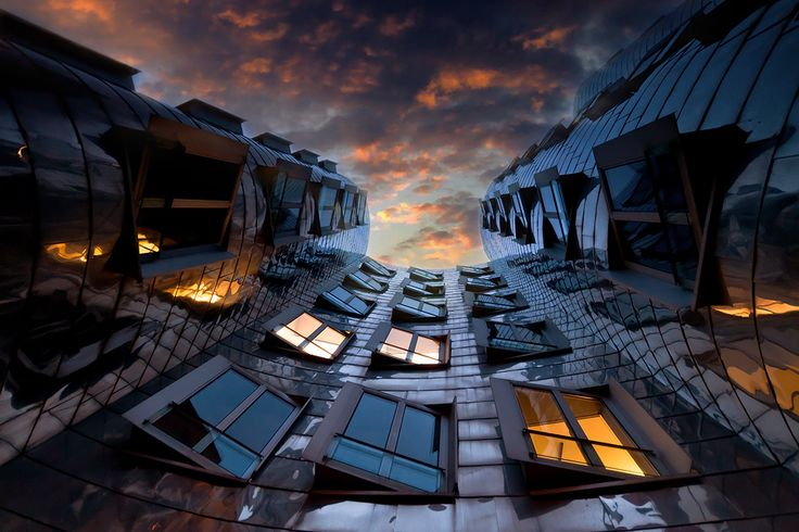 perspective by Adam Dobrovits, via 500px: Architects, Building, Window, Adam Dobrovit, Frank Gehry, Cities Life, Perspective, Life Photography, Stainless Steel