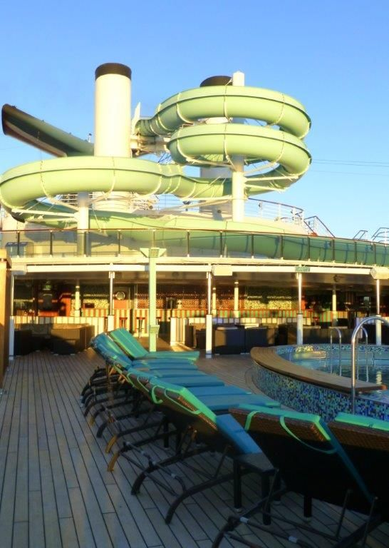 Carnival Miracle's Serenity adults-only area provides a great place to relax