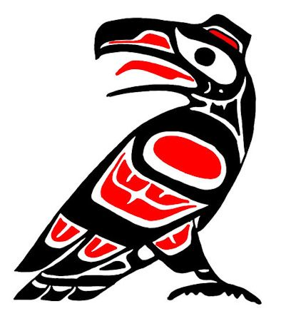 pacific_northwest_native_american_totem_USA_color_crow_image013_Tattoo_Temple_The_Premier_Body_Art_Studio.jpg (394×450)