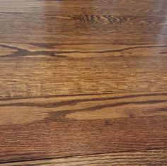 """50/50 Minwax """"special walnut"""" and """"weathered oak"""" stain - on my red oak board floors with oil based poly"""