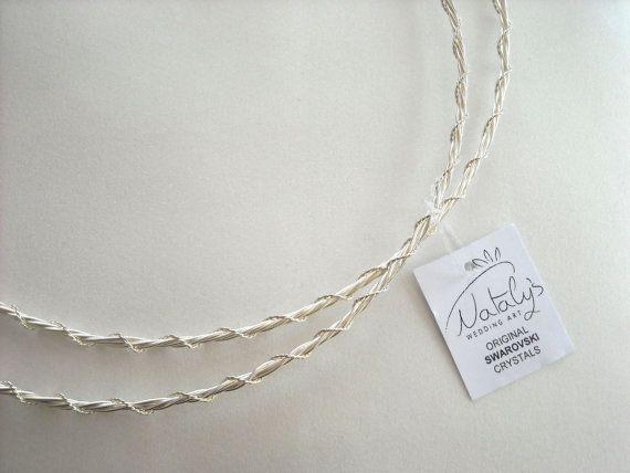 Greek Wedding Shop - Classic Silver Plated Stefana, $150.00 (http://www.greekweddingshop.com/classic-silver-plated-stefana/)