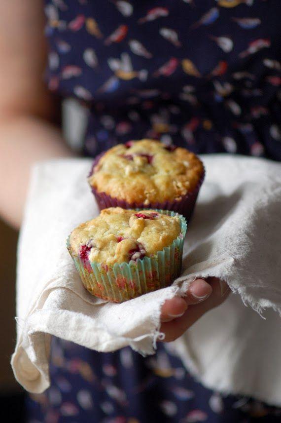 Madame Gateau: Muffins aux canneberges et chocolat blanc