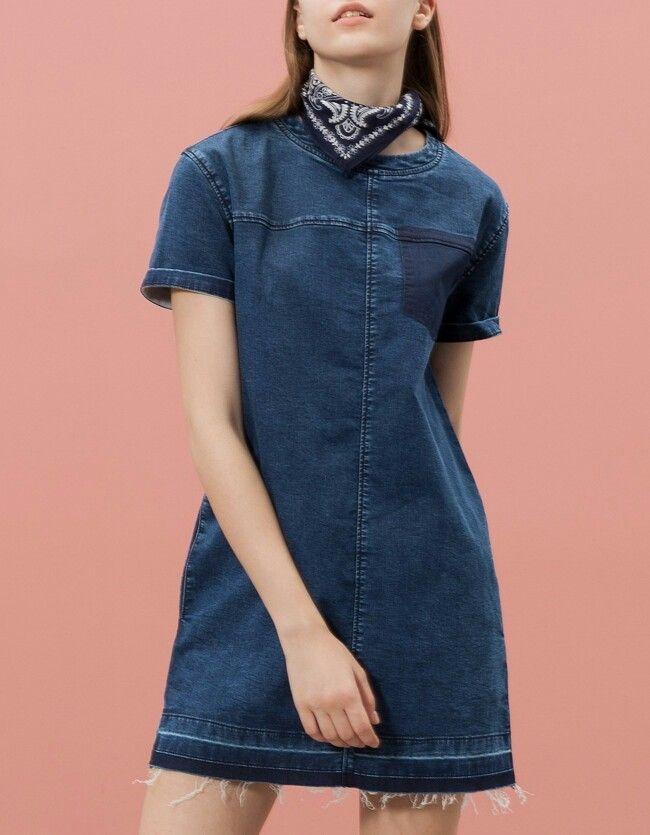 Джинсовое Платье Черное Страдивариус