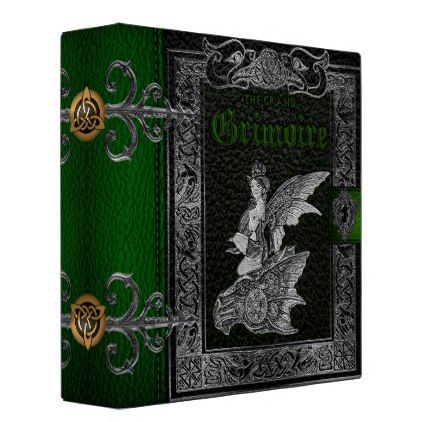 The Grand Grimoire Witches Book Of Shadows 3 Ring Binder - floral gifts flower flowers gift ideas