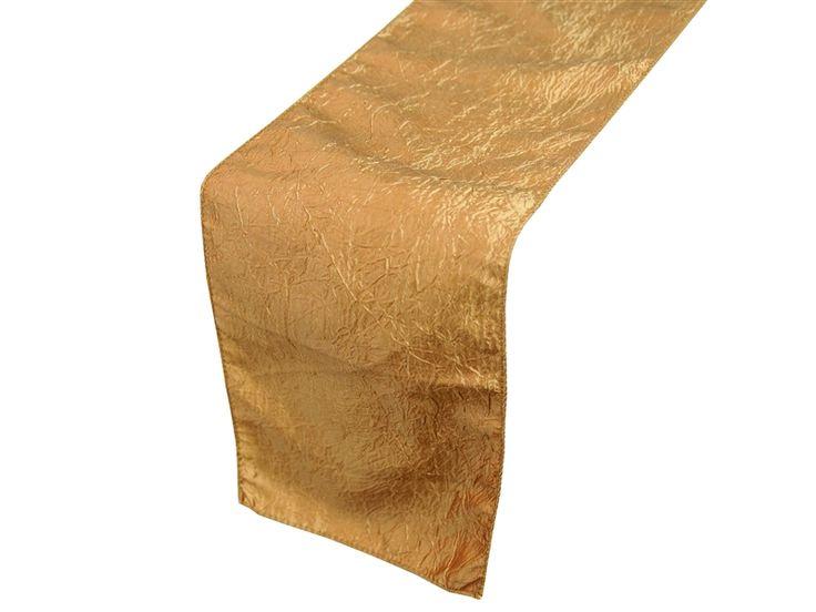 Table Runner (Taffeta Crinkle) - Gold