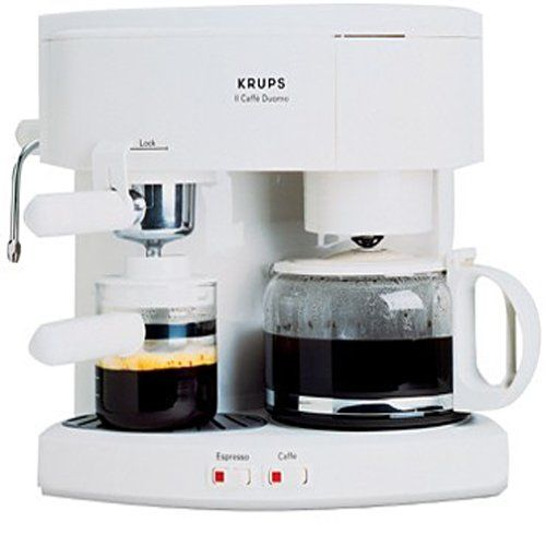 >>> Check this awesome image : Krups 985-71 Il Caffe Duomo Coffee and Espresso Machine, White at Coffee Machine.