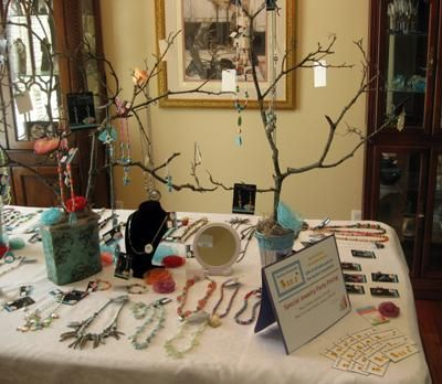 Kim's Home Jewelry Party Display