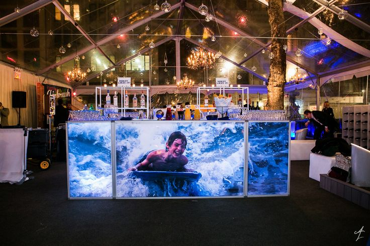 Adam Leffel Productions Bar Mitzvah Decor. A personalized light up bar is the perfect focal point for a cool bar mitzvah! #adamleffelproductions #barmitzvah #custom #event #bar