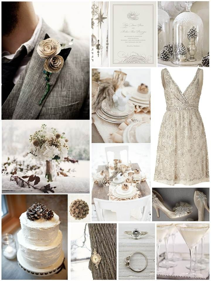 Winter wedding board