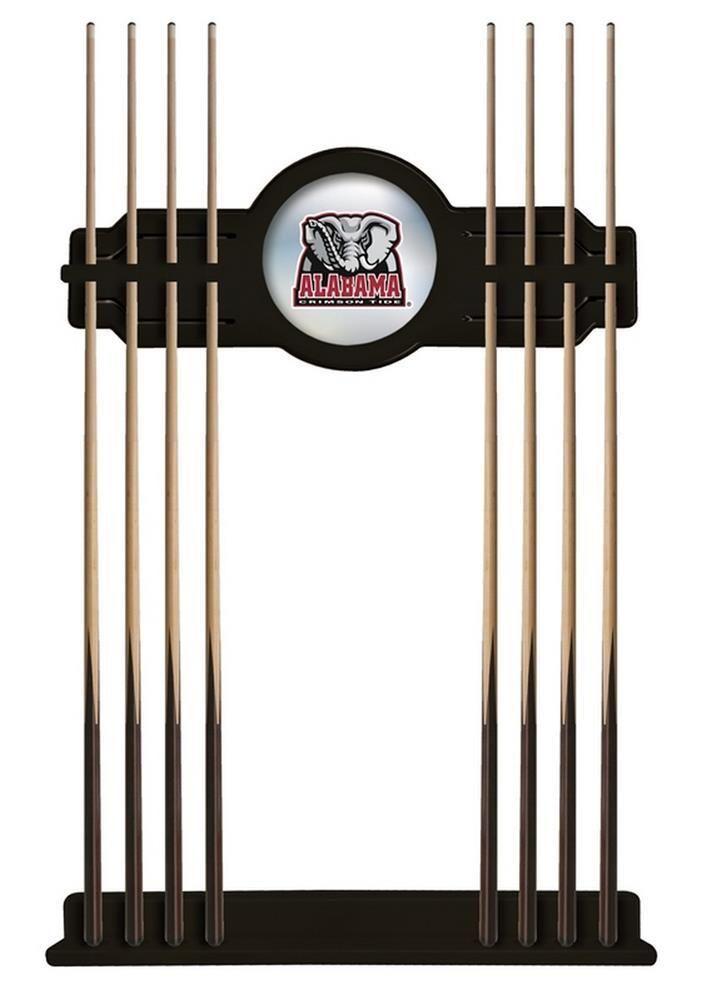 Alabama Crimson Tide Bama Cue Rack Black Finish Pool Stick Rack