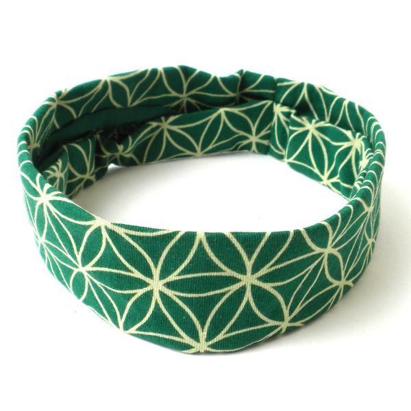 Flower of Life Headband - Green