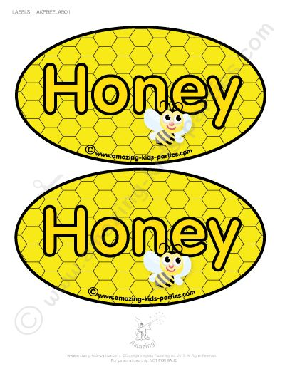 FREE Printable Bee Party Decorations from amazing-kids-parties.com