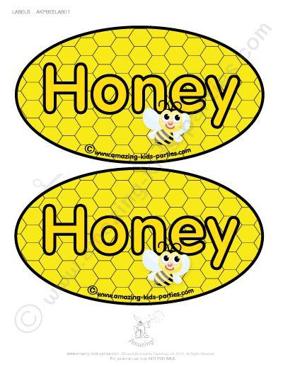 Ingyenes Nyomtatható'Honey' címkék