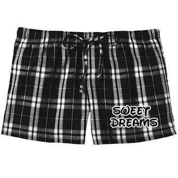 Sweet Dreams (Black) SarahBe Designs #customizedgirl #black #sweetdreams #pajama #shorts