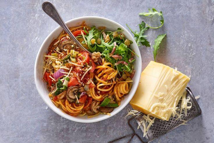 Lekkere Italiaanse spaghetti met groentesaus - Recept - Allerhande