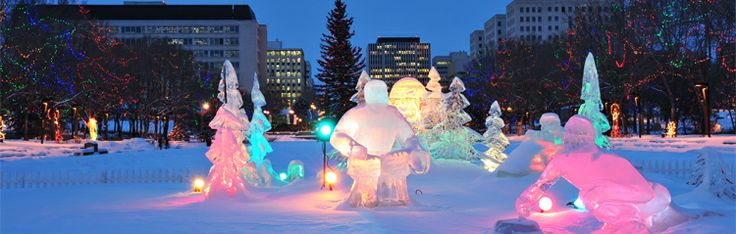 Edmonton Mall is a must do, when visiting Edmonton, Canada. In Winter, ice sculptures are displayed around the main fountain.  Visit our destination guides for more tips...  http://www.infinityholidays.com.au/destinations
