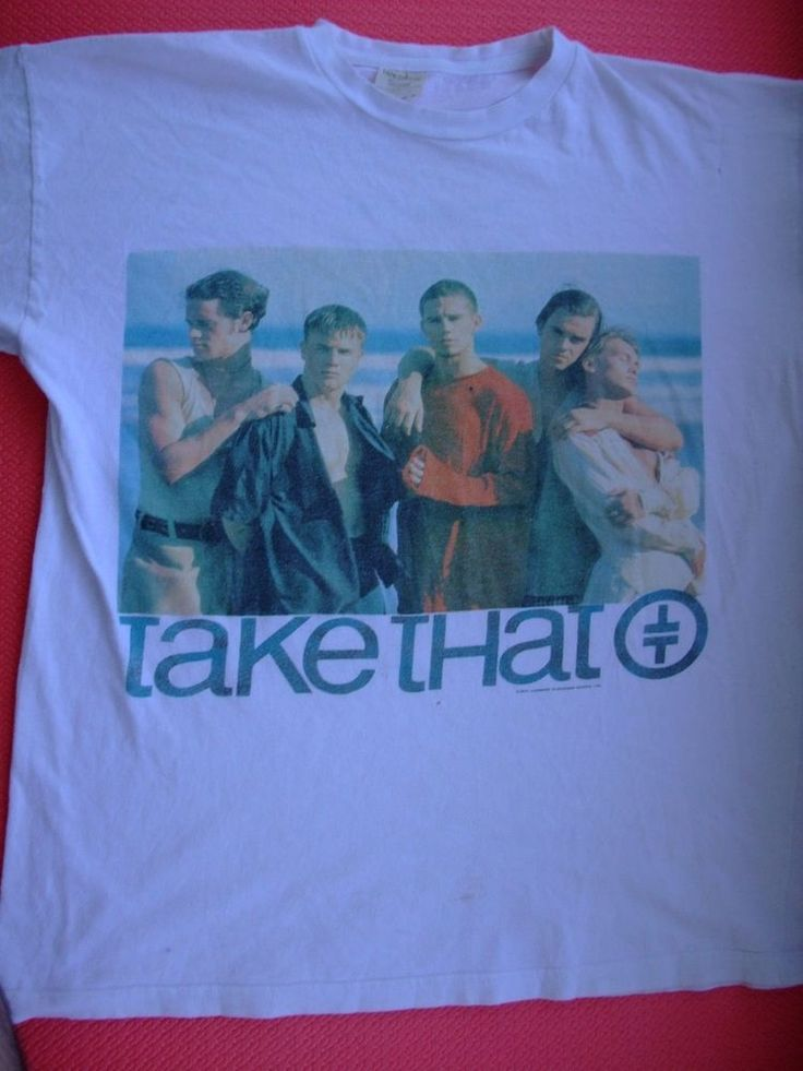 RaRe vintage 1993 TAKE THAT SUMMER UK tour Robbie Williams t-shirt tee Medium
