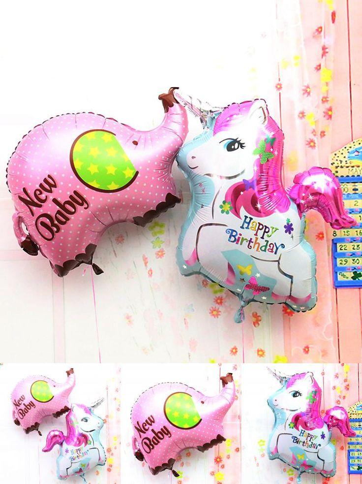 [Visit to Buy] 80cm giant balloon Elephant unicorn foil balloons classic toys happy birthday Balloons helium balloon Inflatable big ballon #Advertisement