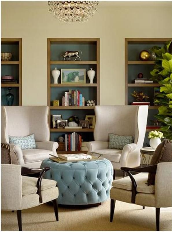Love the poof.. Why am I obsessed with Tufted Items right now?