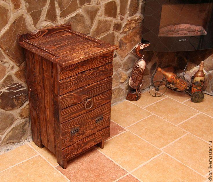 """Купить Овощница """"Погребок"""" с выдвижным ящиком - коричневый, шкаф-бар, овощница, хранение вина"""