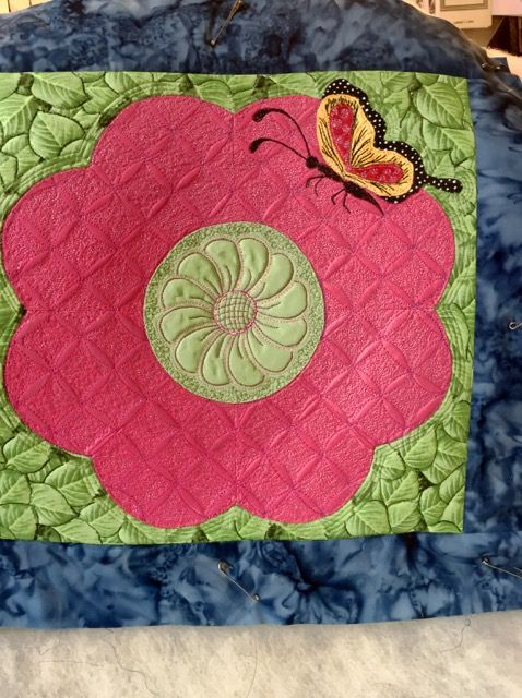 Beautiful piece by Kathy Autry using the Ultimate Shape for the overall background design.