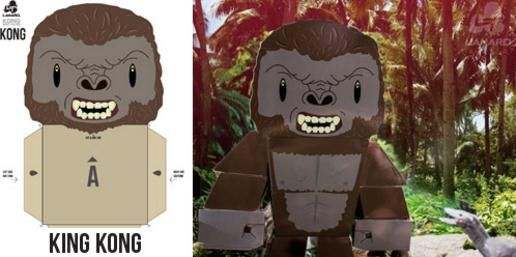Offered by Kong Skull Island Toys website , here are two official paper toys from Kong: Skull Island 2017`s movie.    Oferecidos pelo site...