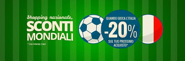 Quando gioca l'Italia, vince la convenienza. #sconti #cavalca #arcisate #varese #mondiali #brasile2014