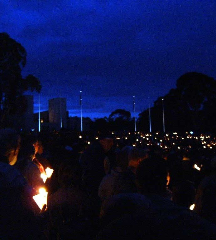Canberra: Anzac Day dawn service at the Australian War Memorial. 2005.