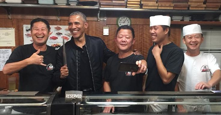 via0.com - Chef Barack Obama Mitchs Sushi Bar Honolulu Hawaii   welcome ..  Topic : Chef Barack Obama Mitchs Sushi Bar Honolulu Hawaii  author : via0.com  here you go   Earlier this week a sushi restaurant called Mitchs Sushi Bar in Obamas hometown of Honolulu HI posted a Facebook photo of the our 44th president hanging out behind the bar. The photo which we found thanks to People Magazine showed Obama with four of the restaurants employees. The President was also holding a chefs knife which…